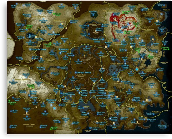 carte sanctuaire zelda
