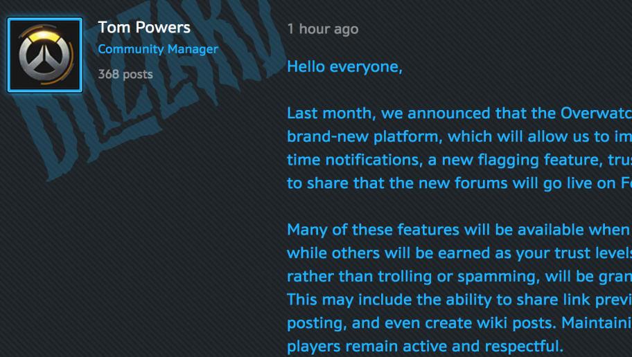 overwatch forums