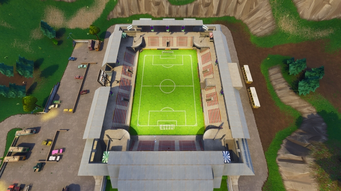 terrain de foot fortnite